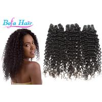 China Natural Black Tangle Free Mongolian Curly Hair Extensions Grade 7A Virgin Hair wholesale