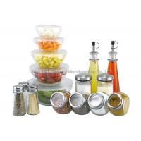 China 16 pieces mixing Large Glass Salad Bowls with lid 160ml 240ml 480ml 0.6l 1.2l on sale