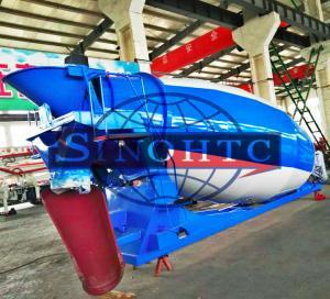 China High Performance Truck Bodies 8 - 10 Cbm Volume Concrete Mixer Tank wholesale
