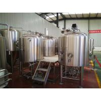 Buy cheap 5 BBL micro beer brewing equipment for micro brewery stainless steel semi automatic control from wholesalers