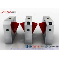 China 304 Stainless Steel Flap Barrier Gate Door Security Access Control Turnstile Gate Anti-Pinch Card Code wholesale