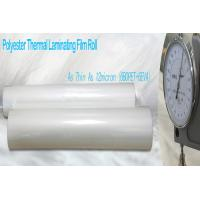 China Thin PET Laminating Film Glossy Finish wholesale