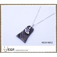 Quality New Arrival Obsidian Silver Pendant R-N012 for sale