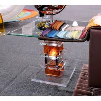 China Modern Acrylic Furniture Clear End Table With Electric Light wholesale