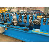 China Pre Punching / Post Cutting C Z U Purlin Roll Forming Machine Gcr15 Steel Roller Material wholesale