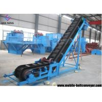 China Flat Inclined Rubber Mobile Conveyor Belt System With Grain Coal Hopper wholesale