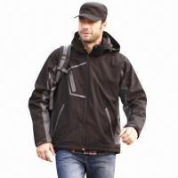 China Men's Softshell Jacket, Windbreaker, Outdoor Wear and Casual Coat, Waterproof, Fashionable Design  wholesale
