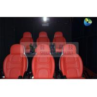 China Black Mobile 5D Cinema Track Box 6 Seats Inside With 4 Wheels wholesale
