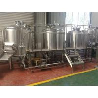 China Steam Heating 1000l Beer Production Equipment Highly Automatic / Manual Operation wholesale