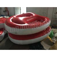 China Screen Printing Inflatable Water Toy , 4m Diameter 2 Seats PVC Inflatable Boat wholesale