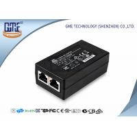 China 15 Volt POE Power Adapter 0.8a , Black AC DC POE Ethernet Adapter wholesale