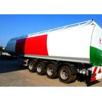 China 4 Axle 60K Liter Diesel Tank Semi Trailer With First Axle Lifting Aire Bag Spring wholesale