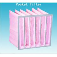 Quality High Efficiency F7 Pocket Air Filter Pink Dust Collector Filter Bags Without for sale
