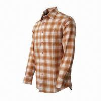 China Men's Plaid Shirt, Comfortable to Wear, Fashionable, UV-stop, Quickly Dry, Long Sleeves wholesale