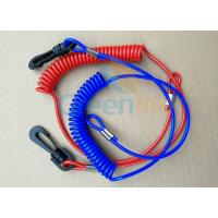 China Solid Blue/Red Plastic Spiral&1.5mm Cotton Core Jet-ski Stop Switch Safety Floating Lanyards wholesale