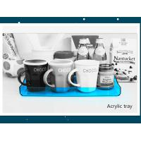 Quality Transparent Blue Acrylic Service Tray 230mm X 325mm X 30mm for sale