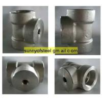 China duplex stainless ASTM A182 F51 threaded tee on sale