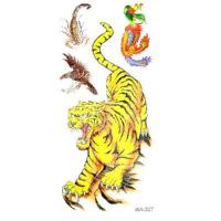 Quality New Temporary Tattoos Vivid Tigers Pattern Design for sale