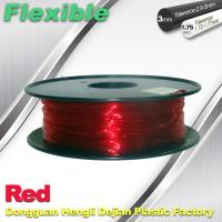 Quality Elastic / Rubber Flexible 3d Printer Filament 1.75mm / 3.0mm 1.3Kg / Roll Filament for sale