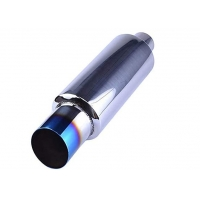 """China 2"""" Inlet 3"""" Outlet Sus409 14.8"""" Length Universal Exhaust Muffler For Suv wholesale"""