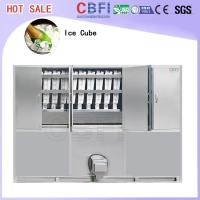 China Commercial Ice Maker / Ice Cube Making Machine With PLC Central Program Control wholesale
