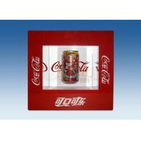 China Window Shape Red Acrylic Levitation Floating Display With Silk Screen Printing wholesale