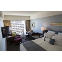Deluxe Hotel Room Furnishings , King Size Hotel Guest Room Furniture In PU