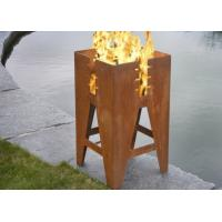 China Durable Outdoor Corten Steel Fire Pit Barbecue Customized Size Available wholesale