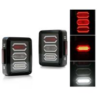 China Jeep Smoked LED Tail Lights / Reverse Daytime Running Lamps ABS + PC Material wholesale