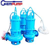 China WQ Sewage Industrial submersible sump electric water centrifugal pump coal mine wholesale