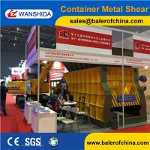 China China WANSHIDA Automatic Scrap Shear/Propane tanks Horizontal Shear Big Mouth Horizontal Shear Supplier wholesale