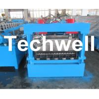 China 1250mm Material Width, Steel Metal Corrugated Panel Forming Machine With Punching wholesale