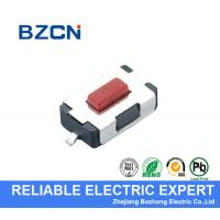 Direct Press SMD Tactile Switch  Momentary Red Button Surface Mount In PCB