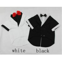 China TUXEDO big dog wedding / party suit bridegroom wear pets formal clothes S M L XL wholesale