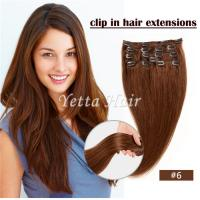 China Simplicity Pre Bonded Keratin Hair Extensions / Clip In Hair Weave Color 6# wholesale