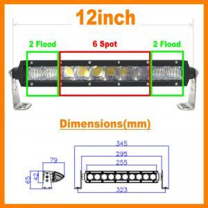 "China 13.5"" 5D 60W 5400lm Pro Optic Single Row LED Light Bar Spot Jeep 4WD BOAT ATV 40/42 wholesale"