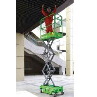 China Platform Height Max 3m MINI Manual Pushing Mobile Scissor Lift with Loading Capacity of 240kg wholesale