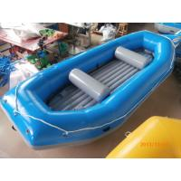 China Blue River Rafting Boat With Inflatable Floor / Raft Inflatable Boat wholesale