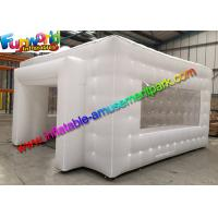 China Clear White Color Cube Outdoor Inflatable Tent With CE / UL Blower on sale