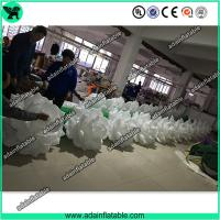 China Hot Sale 10m Wedding Event Decoration White Inflatable Rose Flower Chain With LED Light wholesale