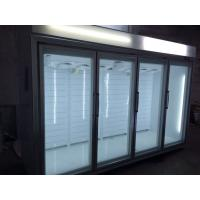 China Open Multideck Display Fridge With Glasss Door Remoted Cooling System wholesale