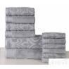 China Luxury Absorbent Super Soft Cotton Solid Jacquard Bath Towel Set wholesale
