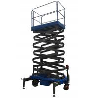 China Platform Height 11m Mobile Scissor Lift With Electrical Driving System Loading Capacity 450kg on sale