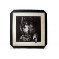 China Stock 5D pictures with Frame 3D Lenticular Pictures Popular Wolf Image wholesale