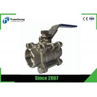 China Stainless steel full bore ball valves , 3PC Socket Welded ball valve wholesale