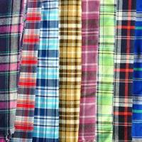 Cotton Yarn-dyed Fabric with Brush Finish, Yarn Dyed, Check and Stripe Type Fabric