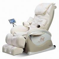 China Music Shiatsu Massage Chair with Touch Screen Remote Control and Backrest Heating Function on sale