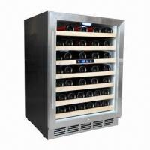 China 52-bottle Single Zone Compressor Cooling Wine Cooler wholesale