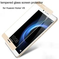 China Best Colorful tempered glass screen protector Huawei Honor V8 Honor V8 full screen Gold wholesale