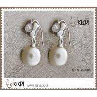 China Fashion Jewelry 925 Sterling Silver Gemstone Earrings with Imitated Pearl W-AS000B wholesale